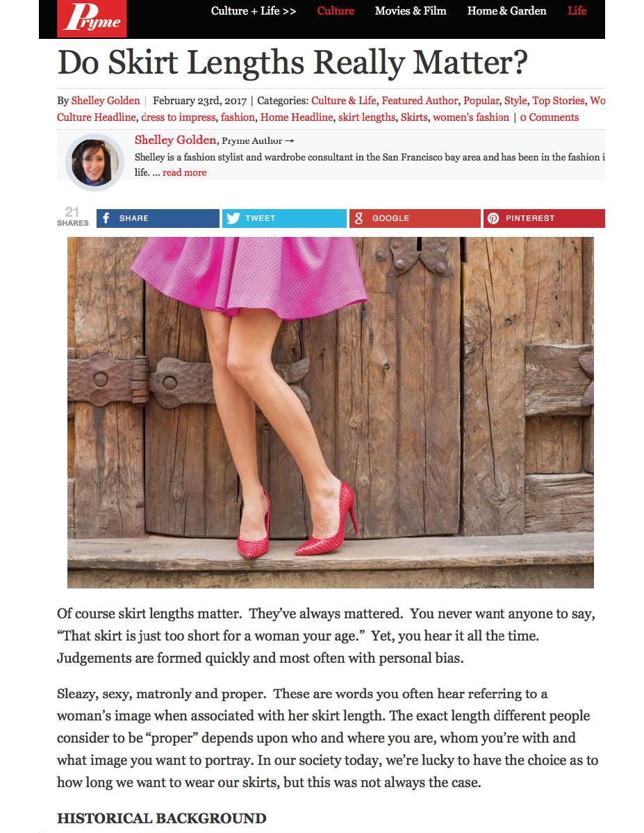 Shelley Golden - Pryme Magazine - Do Skirt Lengths Really Matter - ScreenShot