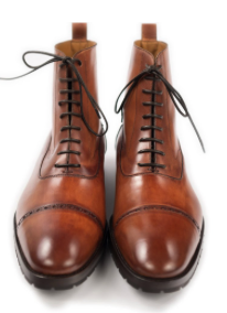 Tan leather Balmoral boots