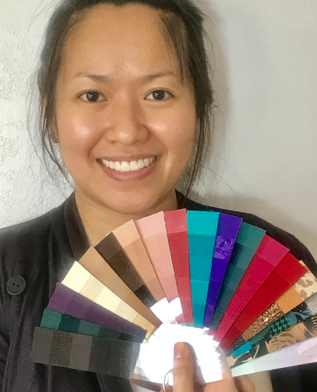 Personalized color palette fan