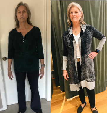 Before an After Shelley golden Fashion Stylist San Francisco