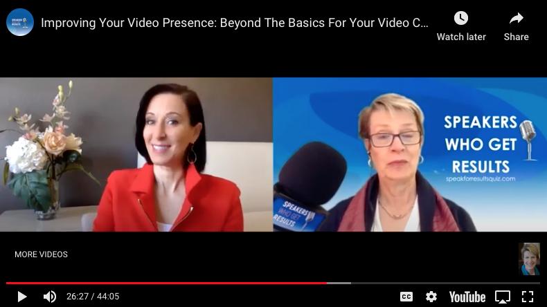 Shelley Golden Expert Zoom Make-overs - screen presence