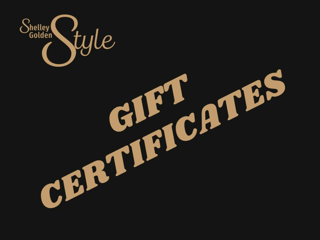 Shelley golden style gift certificates