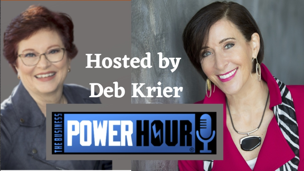 Shelley Golden podcast guest of Deb Krier on The Power Hour on Zoom Makeovers - how to elevate our online screen presence.