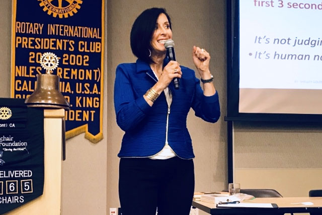 Shelley Golden keynote speaker on image and Zoom Makeover screen presence expert